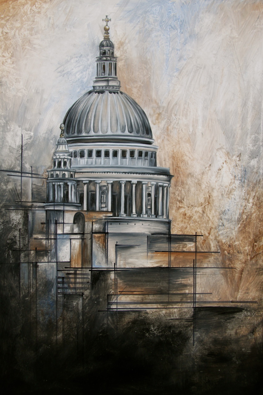 St Pauls, Oil paint, probs my favourite piece i did