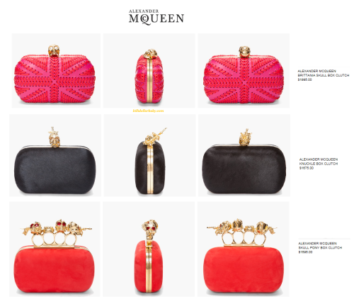 NEW Alexander McQueen Clutches