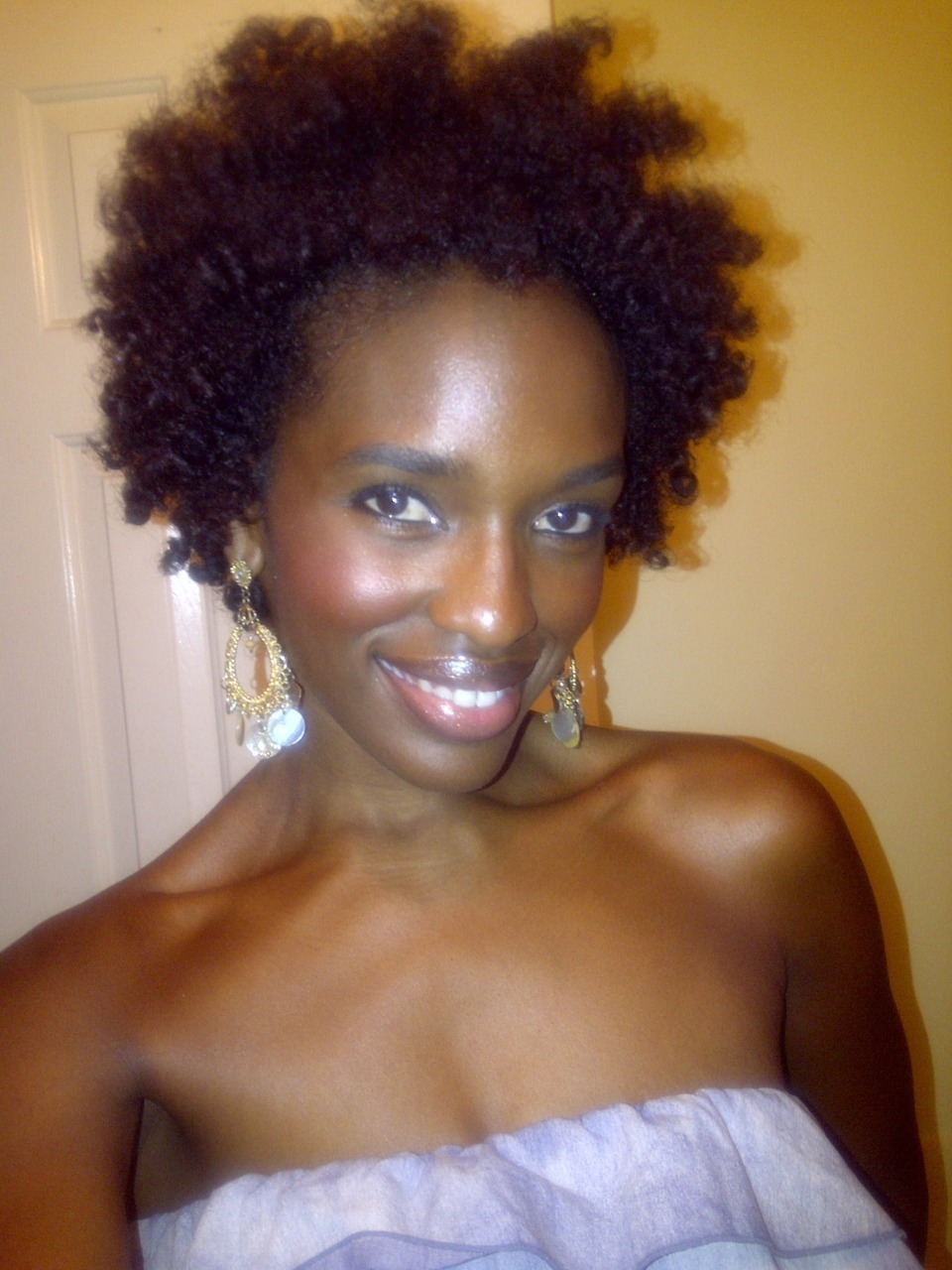 "gotta luv being #teamnatural <3  This is what 7 months after my ""Big Chop"" looks like xoxo, Krystal Nichole"