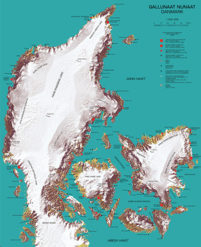 map of Denmark as Greenland, colonized by Greenlanders (no one thinks of greenland) via Strange Maps