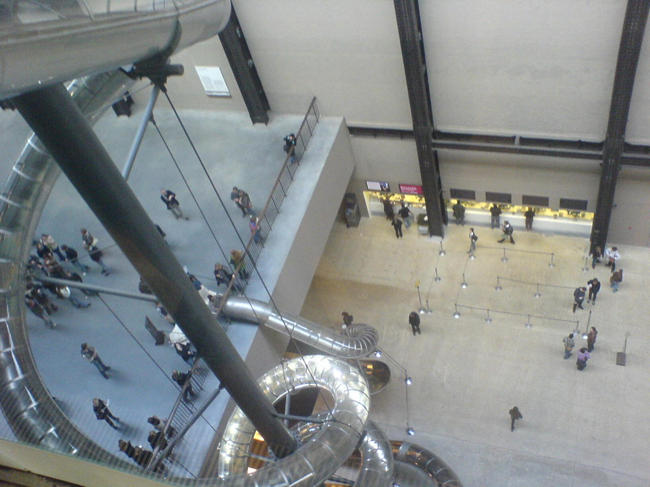 Tate Modern - The best bit of art work ever + the best slide ive ever been on. Definatly with the artist that said its better to be interactive and experience the artwork!