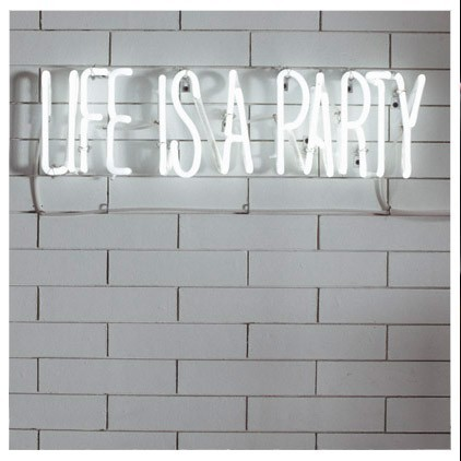 (via Any happy little thought / Life is A Party Neon Light Heima Store)