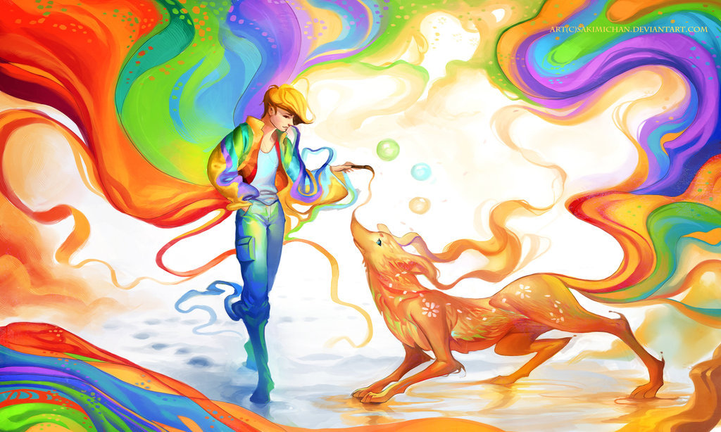 deviantart:  Colours of Friendship by =sakimichan