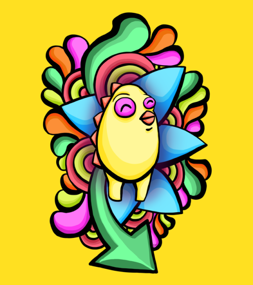 Coo is next in line for my 4 part mini monster series. Super bright & cheery, check it here.