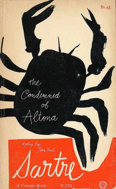 domybooks:  The Condemned of Altona cover by Paul Rand by Scott Lindberg on Flickr. Via Flickr: A Paul Rand book paperback book design. The Condemned of Altona by Jean Paul Sartre.  Vintage Books, 1963.