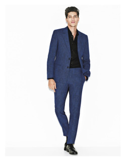 urbanemenswear:  Give your black & gray suits a break - go blue, Details Sept. 2011 editorial.