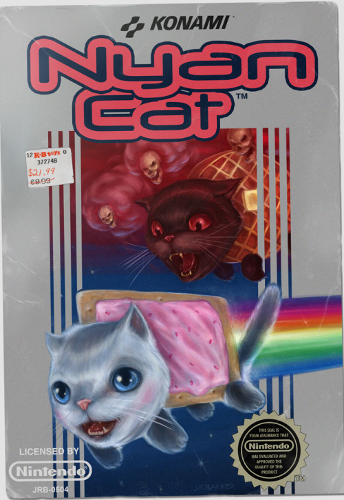 Nyan Cat Retro Box - by J.R. Barker Check out the full painting process here. Website || Tumblr Created and submitted by jrbarker.