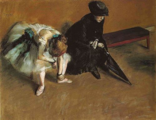 missfolly:  Edgar Degas - Waiting, 1880-1882
