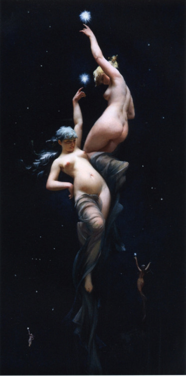 ponderful:  Moonlit Beauties by Luis Ricardo Falero (1851- 1896), a Spanish painter.