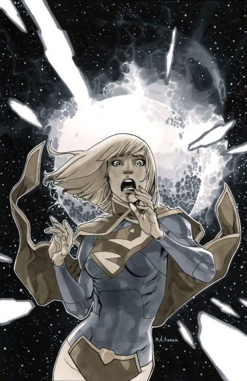 mahmudasrar:  Supergirl #3 Cover, Black & White