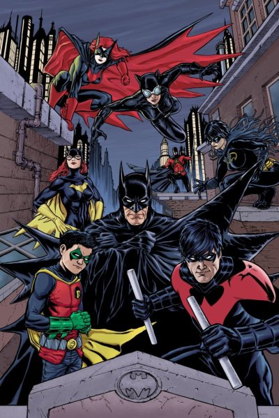 thehappysorceress:  The Bat Family by Craig Cermak Available as a print this weekend at Chicago Comic Con.