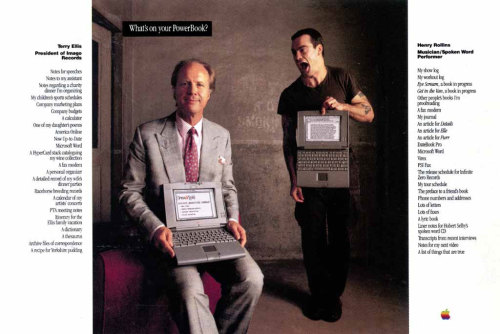 internerd:  Henry Rollins Ad for Apple PowerBook