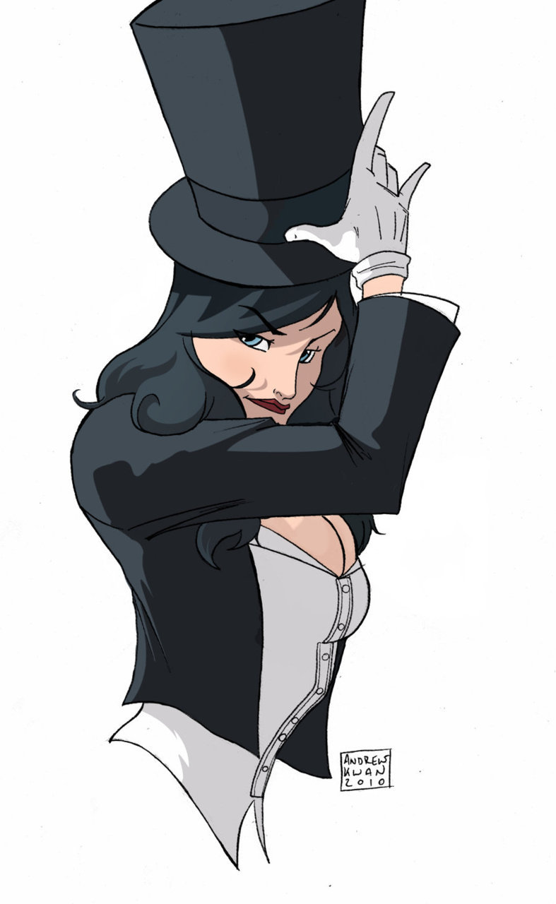 hexappeal:  Zatanna coloured by *Andrew-ak-47