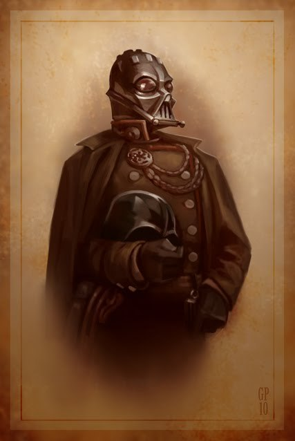 doctormonocle:  A Victorian portrait of Darth Vader by Greg Peltz