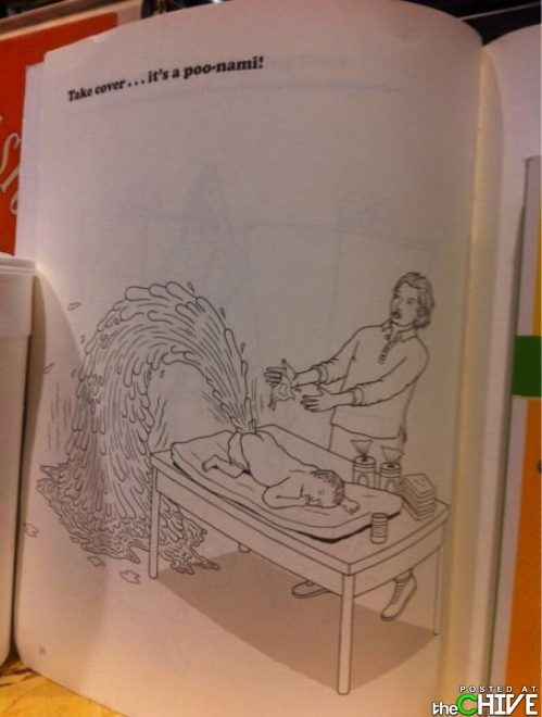 Uh… Somebody give me the name of this coloring book and a brown crayon.