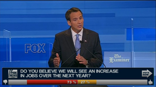 Tim Pawlenty gets off to a rocky start: Chris Wallace pressed pretty hard into Tim Pawlenty, asking if his questioning of Michele Bachmann's migraines had more to do with his poll numbers than anything else. Pawlenty deflected the aggressive question and tried to turn it around into a criticism of President Obama, but for a candidate who some already suspect of being too timid to rattle sabers on stage, that wasn't the tact he wanted to show. (More coverage at DC Decoder!)