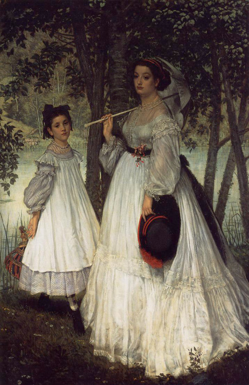Two Sisters by James Tissot, 1863