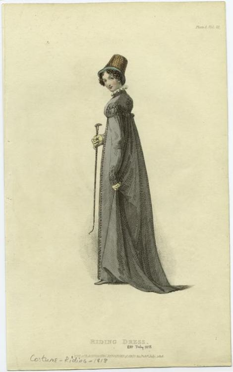 Riding dress, 1818, Ackermann's Repository