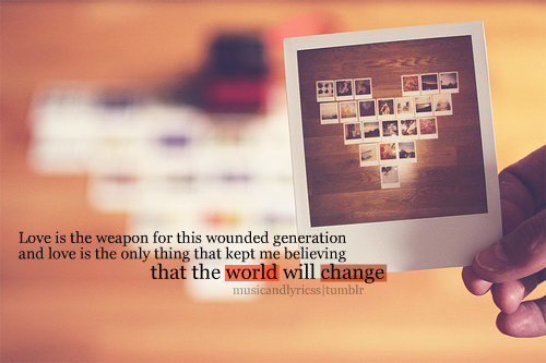 musicandlyricss:  Love Is Our Weapon- Nevershoutnever credits:flickr/; st-whatshername