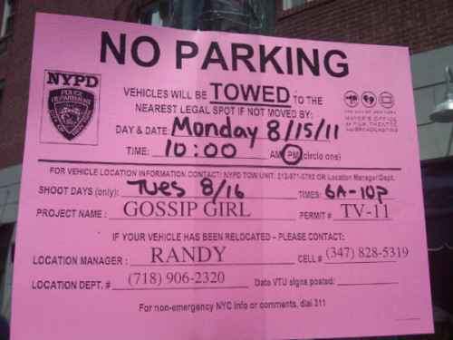 Gossip Girl will be filming on Tuesday on 86th and York! # Will reblog on Monday to remind you guys!