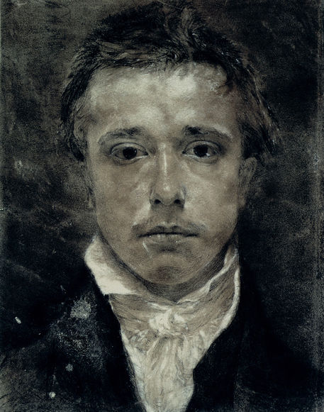 "welovepaintings:  Samuel Palmer (1805-1881)Self­ Portrait (Black chalk, white highlights)1825229 x 291 cm(7' 6.16"" x 9' 6.57"")Ashmolean Museum (Oxford, United Kingdom)"