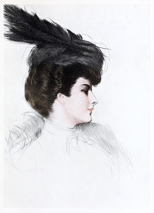 oldbookillustrations:  The lady with the fur hat. Paul Helleu, from Paul Helleu, peintre et graveur (Paul Helleu, painter and engraver), by Robert de Montesquiou, Paris 1913. (Source: archive.org)