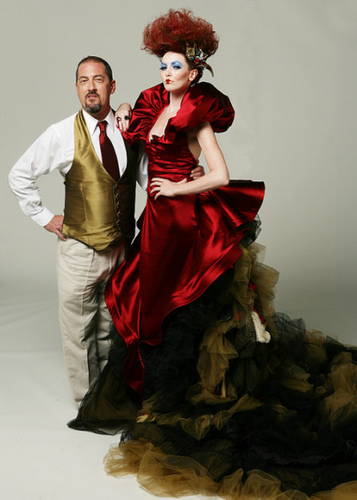sgtsatine:  FIDM Fashion Designer, Clay Sadler with his couture gown inspired by the Red Queen by FIDM on Flickr. Brilliant design. I really want this dress.