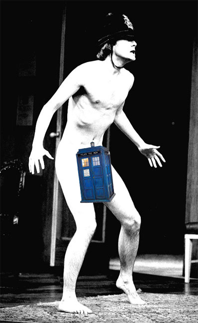 Speaking of wang…David Tennant is hiding something bigger on the inside.
