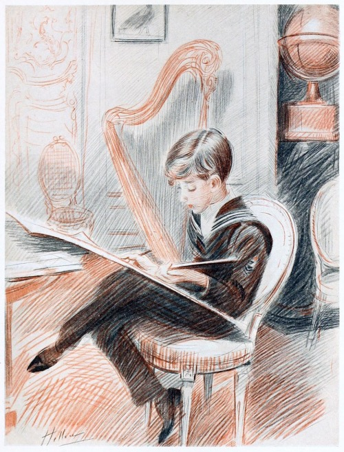 oldbookillustrations:  Jean Helleu. Paul Helleu, from Paul Helleu, peintre et graveur (Paul Helleu, painter and engraver), by Robert de Montesquiou, Paris 1913. (Source: archive.org)