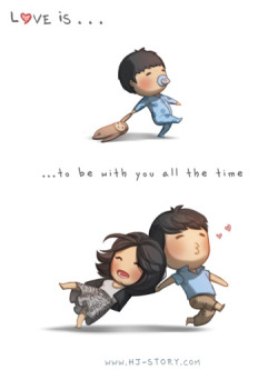 hjstory:  Love is… being with you all the time! Facebook | Twitter | Deviantart