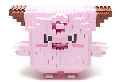 mintyfreshgames:  #035: Clefairy by Filip Johannes Felberg on Flickr. #035: Clefairy Every night of a full moon, groups of this Pokémon come out to play. © 2011 Filip Johannes Felberg