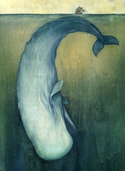 littleg:  (via Moby Dick or The Great Whale by liseljane on Etsy)