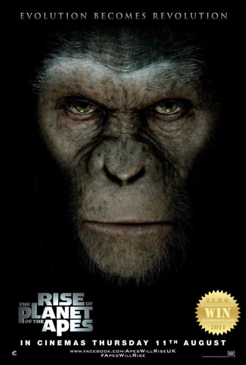 "The Rise of the Planet of the Apes (2011) An origin story set in present day San Francisco, where man's own  experiments with genetic engineering lead to the development of  intelligence in apes and the onset of a war for supremacy. The genesis of the iconic and legendary film Planet of the Apes (1968)! James Franco… man the guy is so hot he can sell an inverted crucifix to the pope. Undeniably one of the ""in demand"" actors in modern cinema. The guy's got the looks and he can act. Now that that's out of the way we can talk about the film and the spectacular effects. The Apes are the stars here, fuck all the humans. Not including the wonderful effects team that brought this film together and displayed their talent. Caesar aka Andy Serkis (Gollum) stole the show! along with his CGI primal mates. I loved how the writers tied-up the ""launch"" and left the film open ended. Leaving room for a ""possible"" part 2. The story also has a Monkey Shines (1988) element to it. Seeing John Lithgow made my heart pitter patter. That crazy old man! And there were some surprises too Tom Felton gets what he deserves and Brian Cox = a strict douche again. They represented so many of us who take things for granted, being the proud race that we are. One day we too shall be humbled. The chaos and theory was admirable. The demise of the world may come in any form size or number (rise of the zombies, rise of the robots, rise of the aliens, rise of the apes etc.). Splendid production quality that does not disappoint. Funny thing: They ate cookies more than they did bananas! (was there even a banana?) SEE: The Greatest Movie Ever Sold (2011) to find out why. I do hope they make a (the rumored) sequel…"