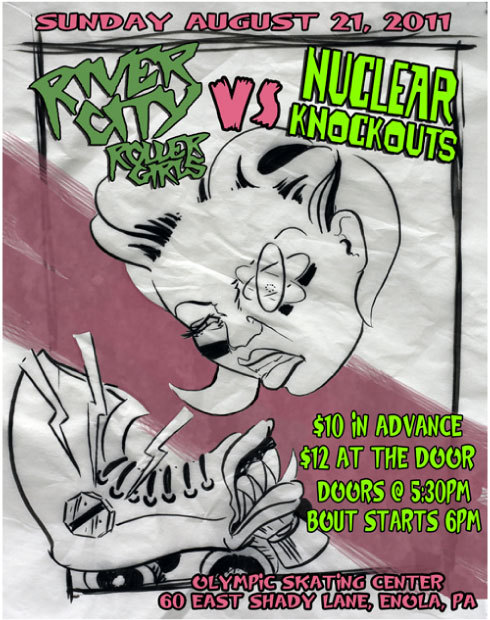 H.A.R.D.'s Nuclear Knockouts v. River City Roller Girls!!