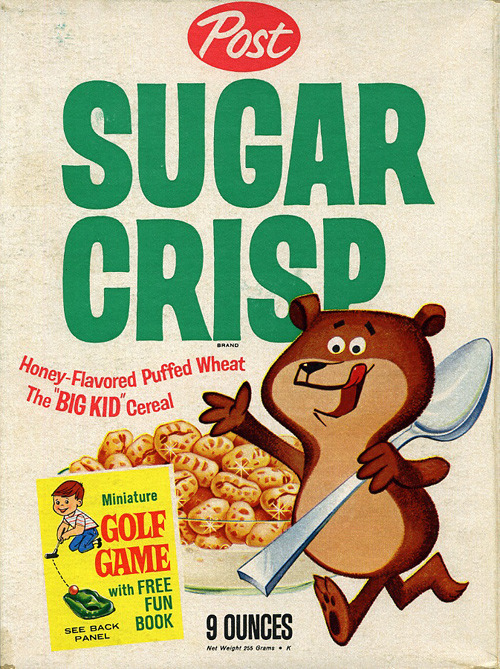 modcloth:  Rise and shine! Vintage cereal boxes circa early 1960s.