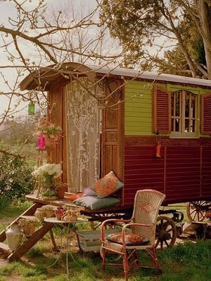 My Bohemian Lifestyle Someday I hope to own a caravan, even if all it does is sit in my big backyard. This one is just lovely.