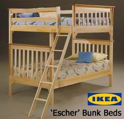 Escher Bunk Beds, via Reddit.