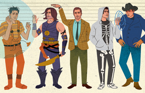 edwardmcgowan:  How Tall is Jake Gyllenhaal? on Flickr. Illustration for the awesome GOOD Magazine. Extremely amusing article about matter-of-fact answers by David Rees, well worth the read. Thanks to Dylan Lathrop for commissioning me, really enjoyed this one.