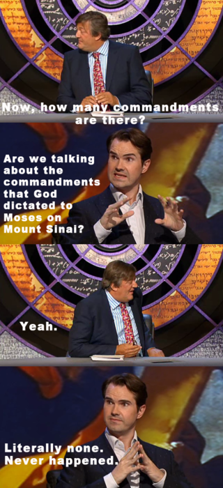 #sotrue ih8religion:  merewetherdreams submitted:  Stephen Fry and Jimmy Carr on Q.I.  I H8 RELIGION