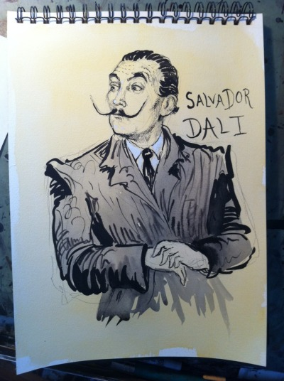 mollycrabapple:  Saints and Sinners: 31 Salvador Dali (on arches paper)