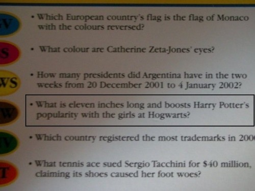 From Trivial Pursuit