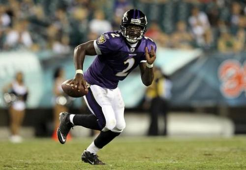 Former Hokies Tyrod Taylor and Ryan Williams made their NFL debuts last night. Taylor looked impressive, despite two interceptions, leading the Ravens in rushing, while Williams had a quiet debut with just four carries for 21 yards. Click on the photo above to read the full article.