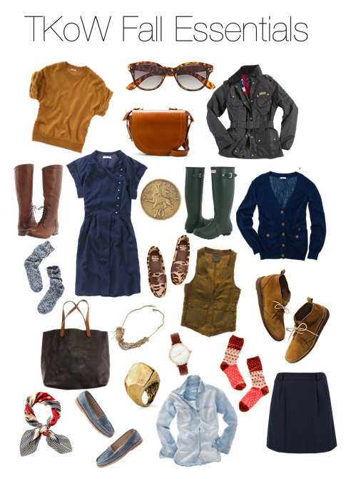 A good start on some fall basics via thatkindofwoman. I can spot a few I already have and a few I wish to add. But sadly it feels like summer has just begun, the summer weather has finally arrived and it better stay through september- OR ELSE!