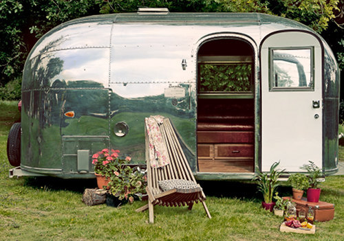 Vintage Bambi Airstream travel trailer.