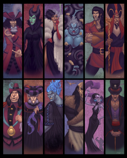 itsacookthing:  The Villains of Disney