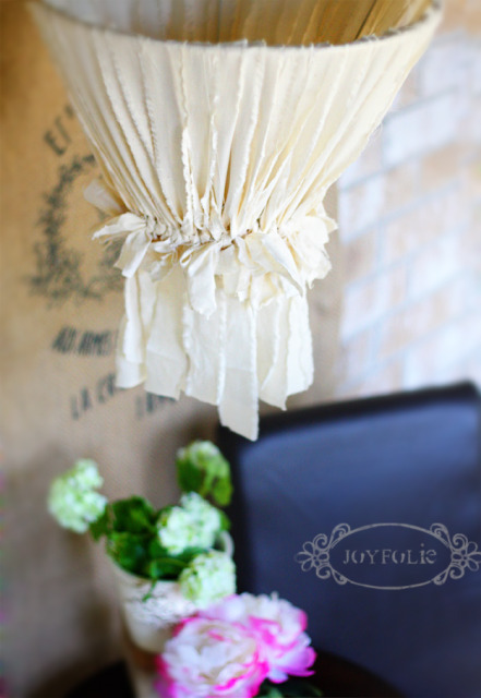 Tutorial: Torn Fabric Chandelier on Joyfolie.