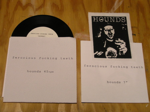 Ferocious Fucking Teeth- Hounds Riotious Outburst Productions / Chowda House Inc. New Lo records old school patch, booklet, and download code of 300 $7 FFT Olympic Records