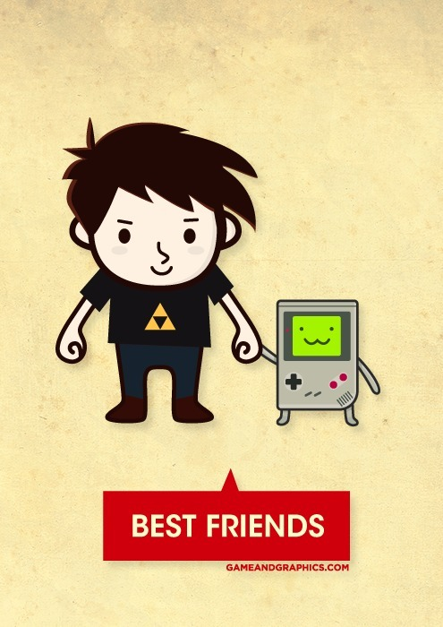 insanelygaming:  Best friends - by Game & Graphics (via gameandgraphics)
