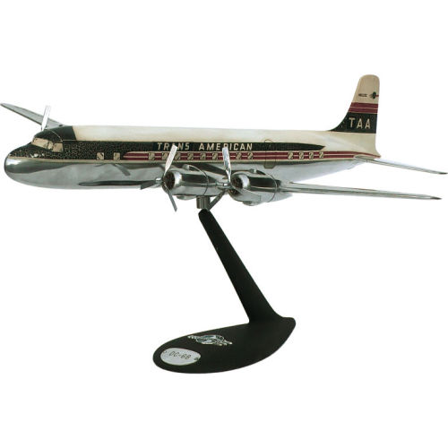 For the power desk. 1950s aluminum model of a DC6.