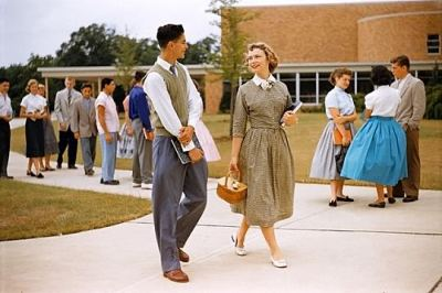 hollyhocksandtulips:  high school, 1950's